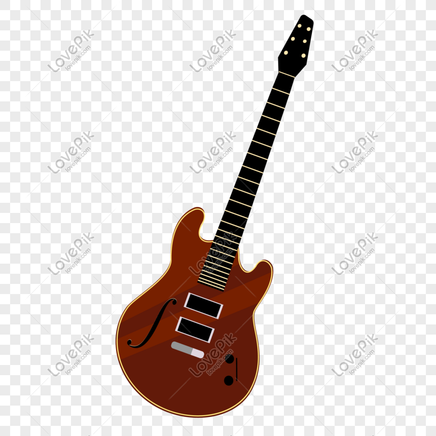 Elemento De Instrumento De Guitarra De Dibujos Animados Imagen