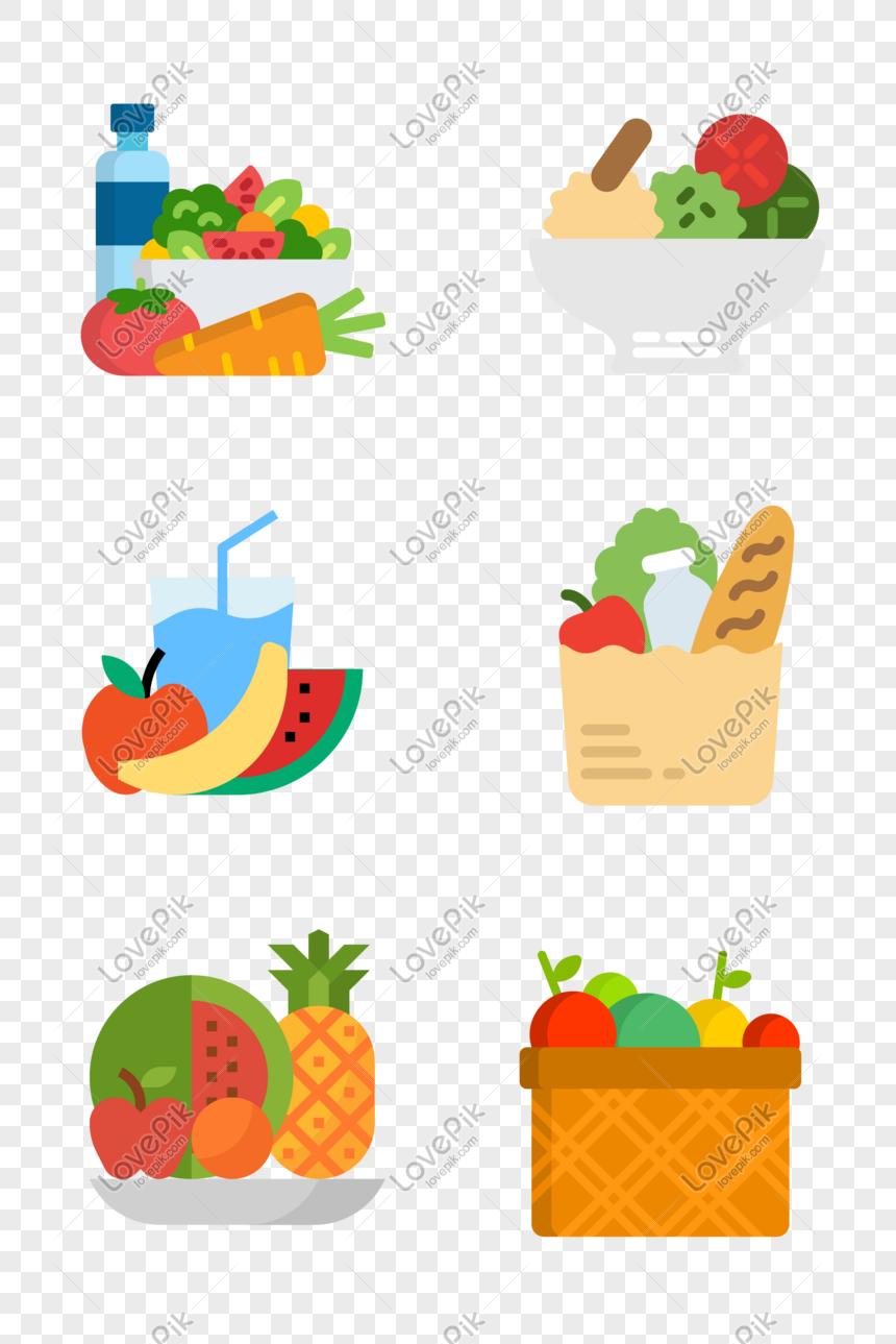 Ikon Buah Sayuran Hijau Makanan Sehat Gambar Unduh Gratis Grafik