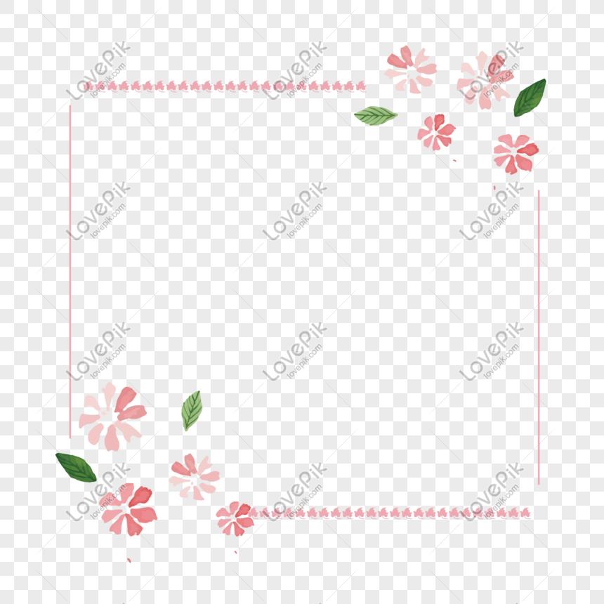 Fresh Flowers Pink Fl Border Png