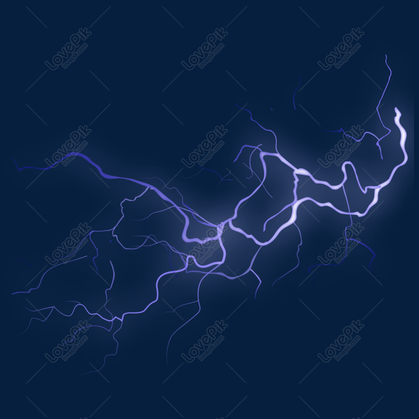 Blue Lightning Background Vector Material Png Image Picture Free Download 610418654 Lovepik Com