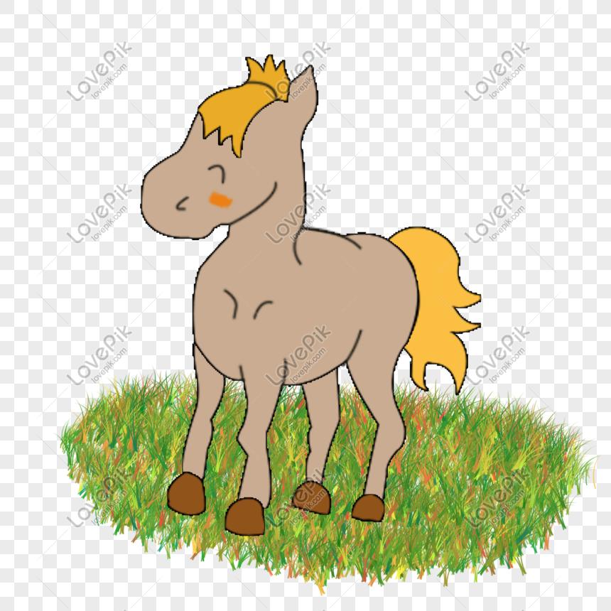 Hewan Kartun Lucu Kuda Zodiak Kuda Poni Kartun Png Grafik Gambar Unduh Gratis Lovepik