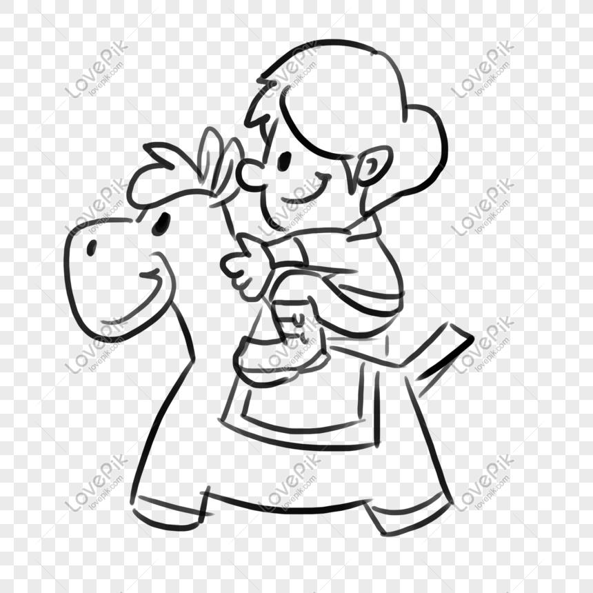 Sketsa Lengket Tangan Hari Anak Anak Doodle Kids Comics Gambar Unduh