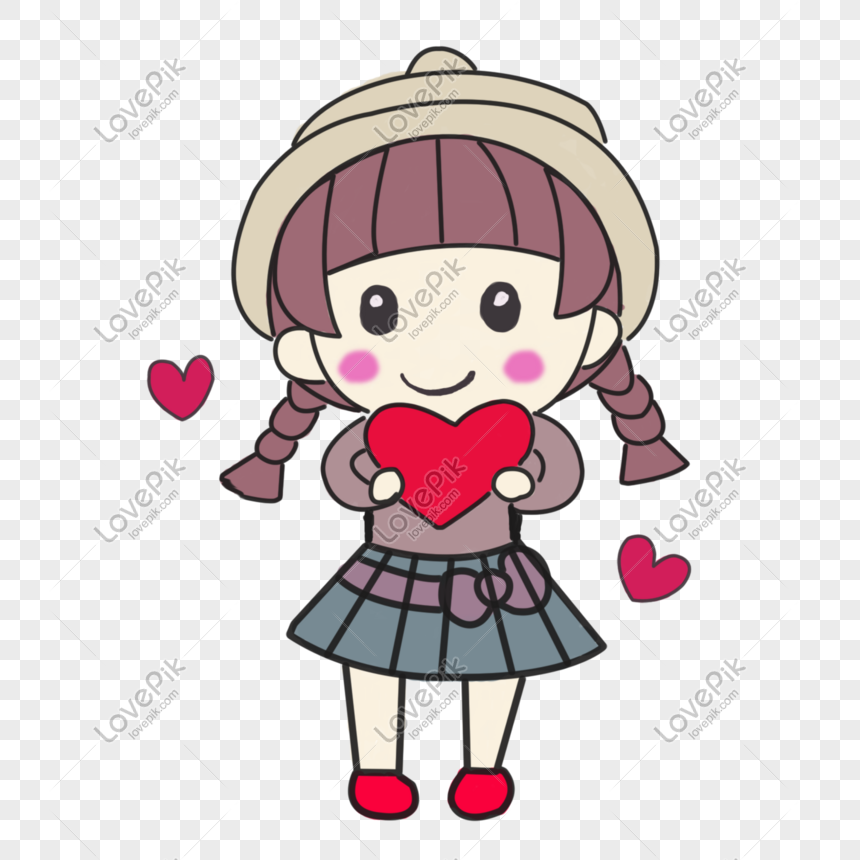 Photo De Dessin Animé Amour Rose Petite Fille Numéro De L