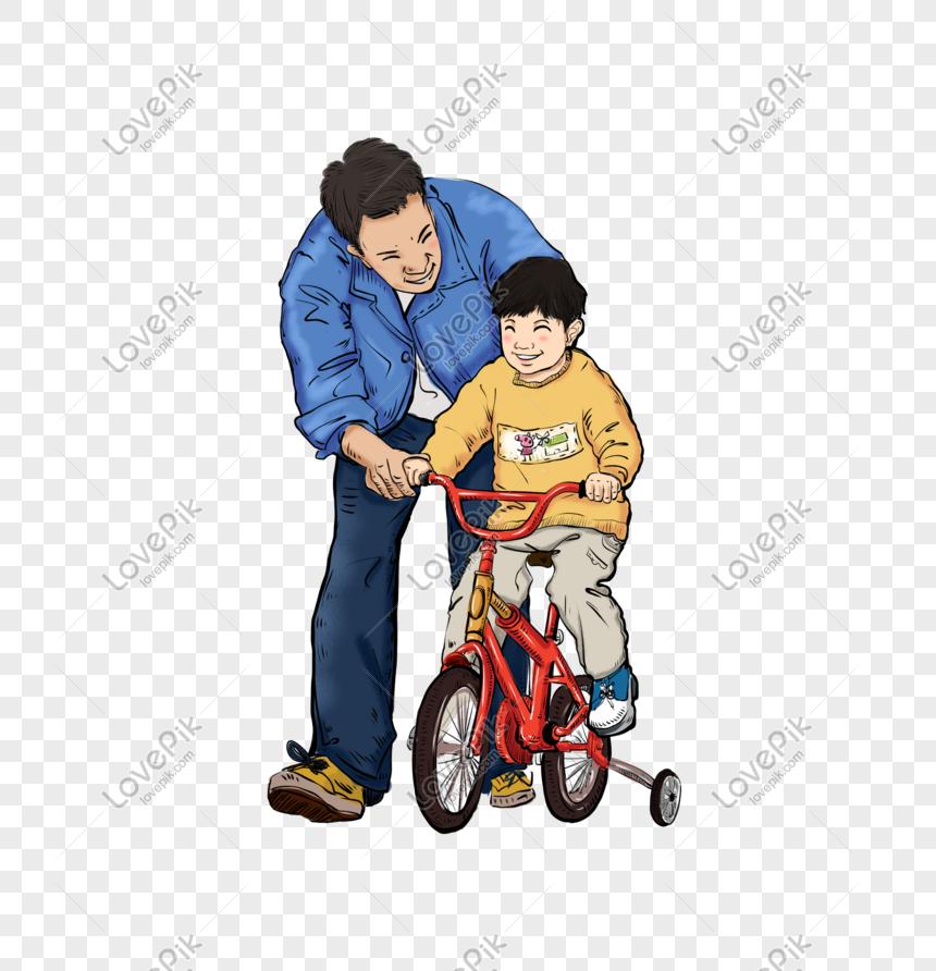 Hari Bapa Tangan Kartun Gambar Bapa Dan Anak Lelaki Menunggang B Gambar Unduh Gratis Imej 610498637 Format Psd My Lovepik Com