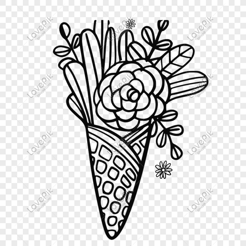Graffiti Flowers And Wind Decoration Materials Png Image Picture