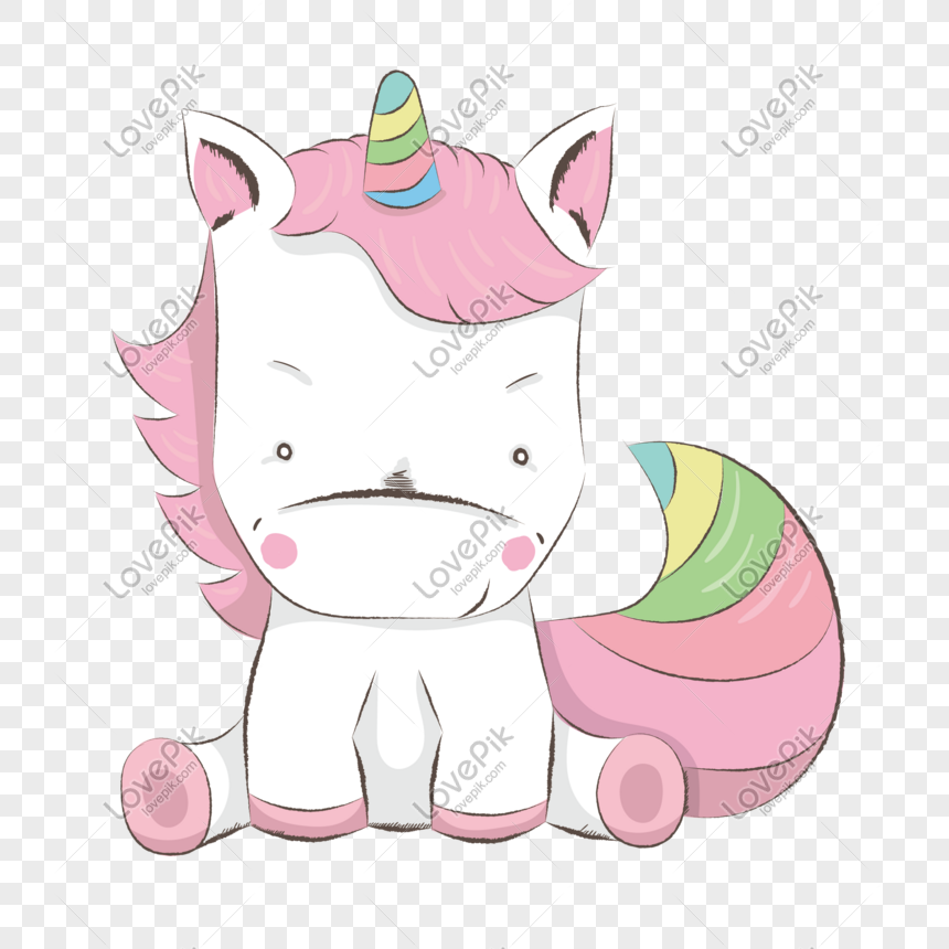 Cartoon Unicorn Vector Material Png Image Psd File Free Download Lovepik 610501982