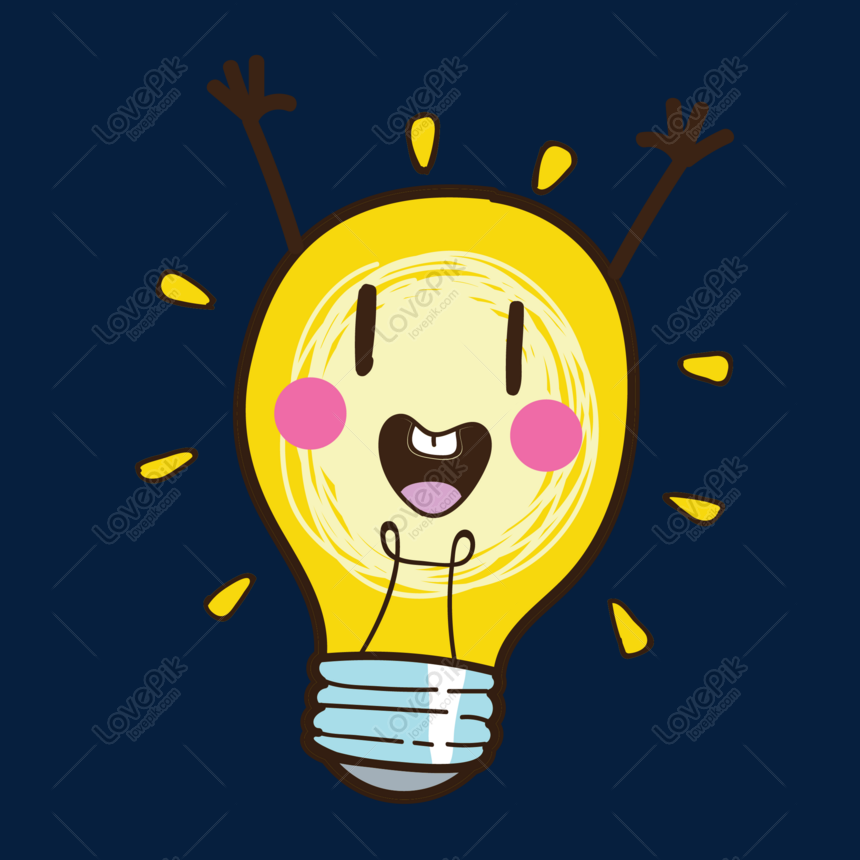 happy light bulb vector material png image picture free download 610504188 lovepik com happy light bulb vector material png