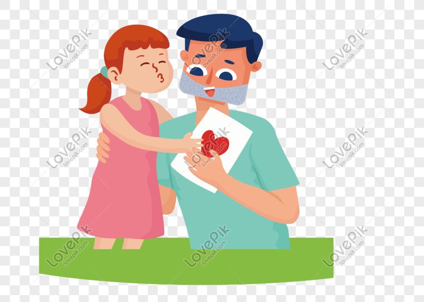 Hari Ayah Kartun Bapa Dan Anak Perempuan Keluarga Gambar Unduh Gratis Imej 610527852 Format Psd My Lovepik Com