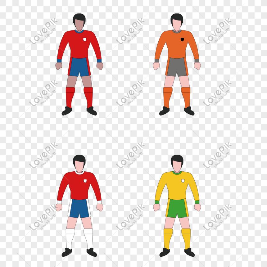karakter kartun karakter sepak bola