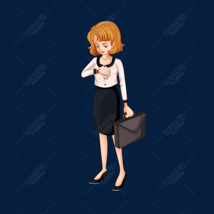 Cartoon Business Woman Vector Material Png Image Picture Free Download 610544635 Lovepik Com