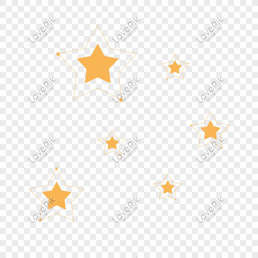 Estrella Flotante Decorativa Estructura Metálica Brillante