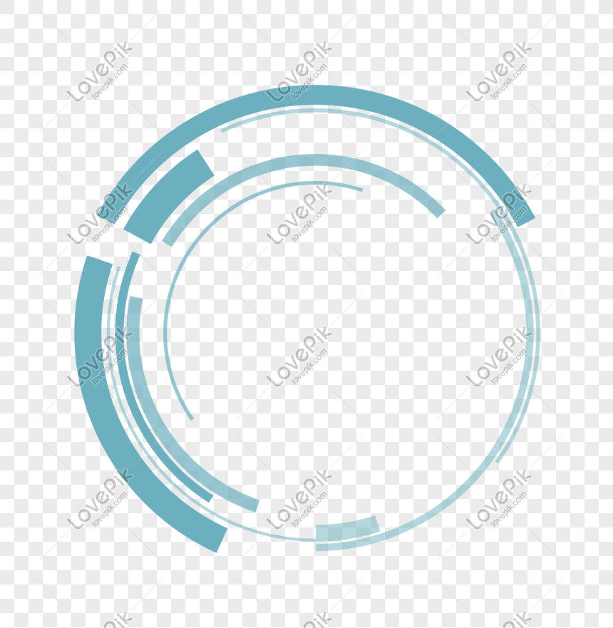 blue minimalistic vector tech wind border png