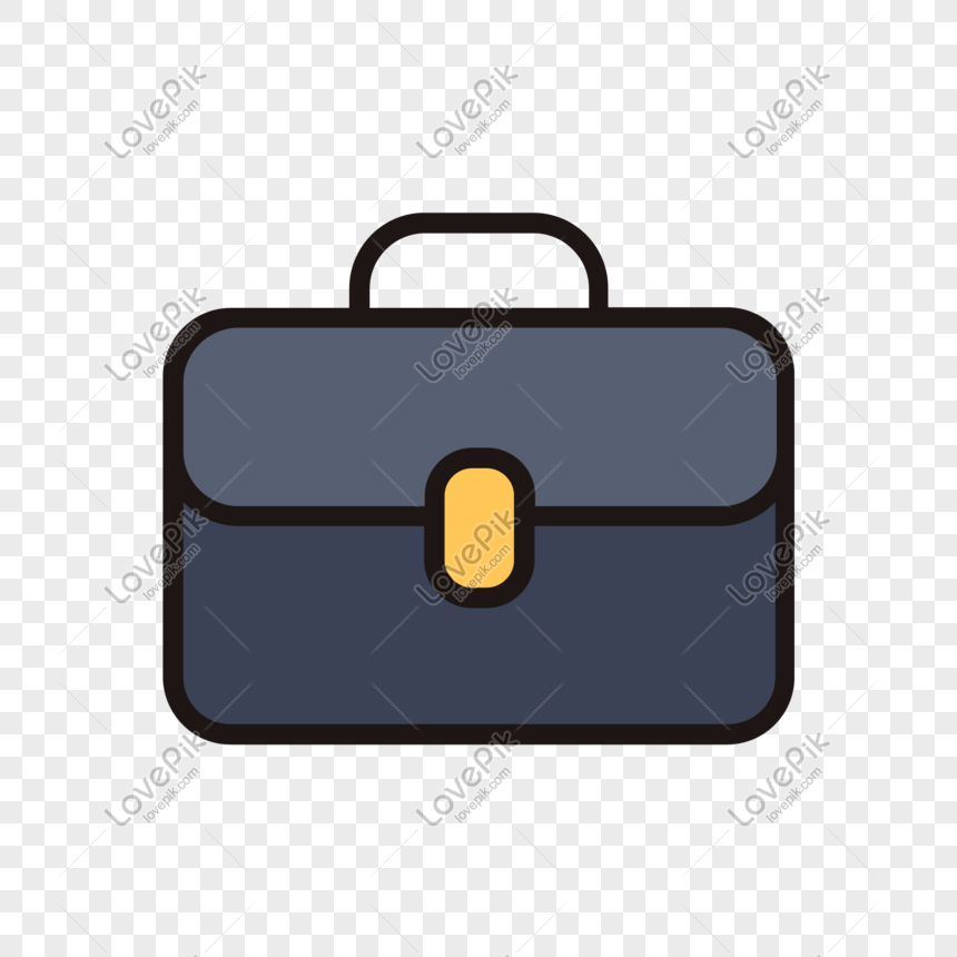 briefcase cartoon free buckle material png