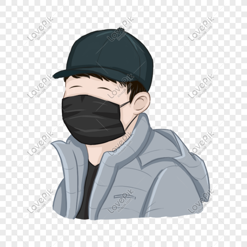 Boy Wearing A Mask Wearing A Hat Hand Painted Cartoon Free Of Png Image Picture Free Download 610628767 Lovepik Com