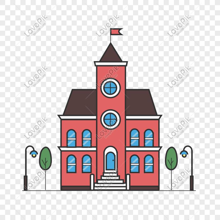 Sekolah Kartun Yang Ditarik Sekolah Membina Bahan Png Gambar Unduh Gratis Imej 610623159 Format Psd My Lovepik Com