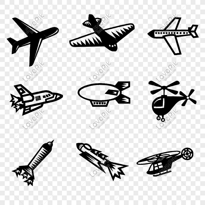 Flat Vector Airplane Png Material Png Image Picture Free Download