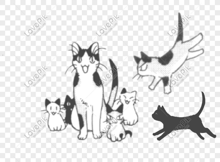Ibu Kucing Dan Anak Anaknya Gambar Unduh Gratis Imej 610653563 Format Psd My Lovepik Com