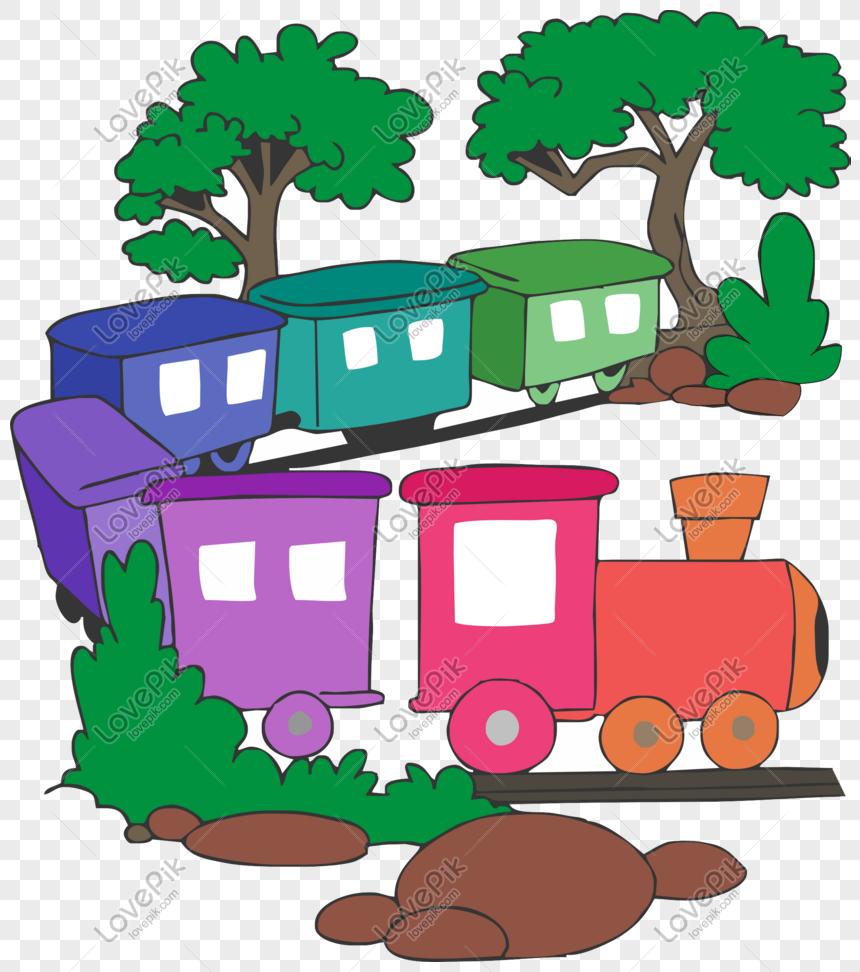 Gambar Kereta Api Kartun Berwarna Kereta Api Warna Taman Permainan Gambar Unduh Gratis Imej 610663032 Format Psd My Lovepik Com