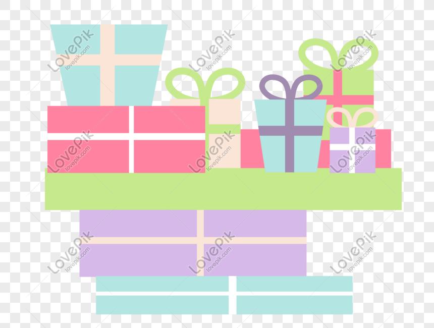 Cartoon Cute Birthday Gift Box