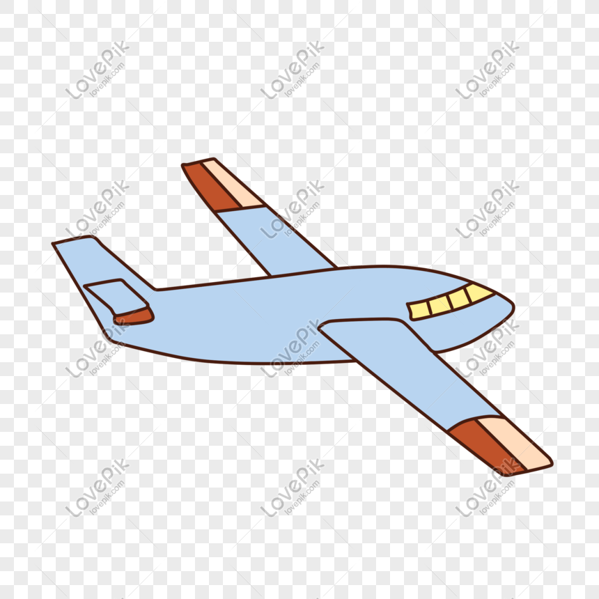 Hand Drawn Cartoon Airplane Toy Game Png Image Picture Free