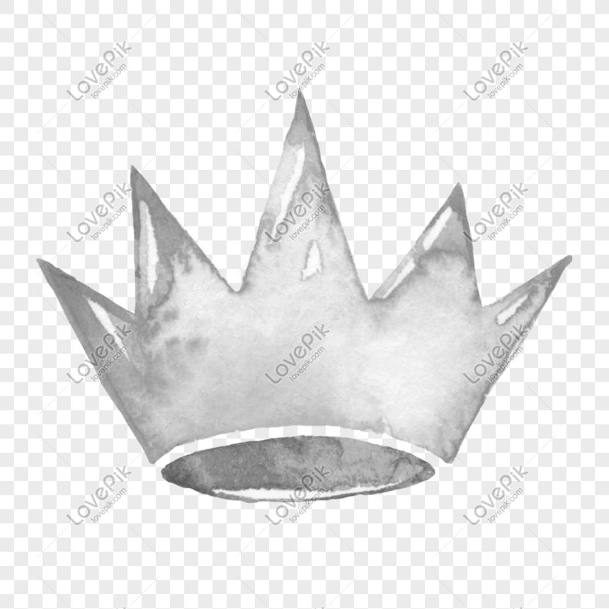 Photo De Aquarelle Peinte A La Main Princesse Couronne De Cristal