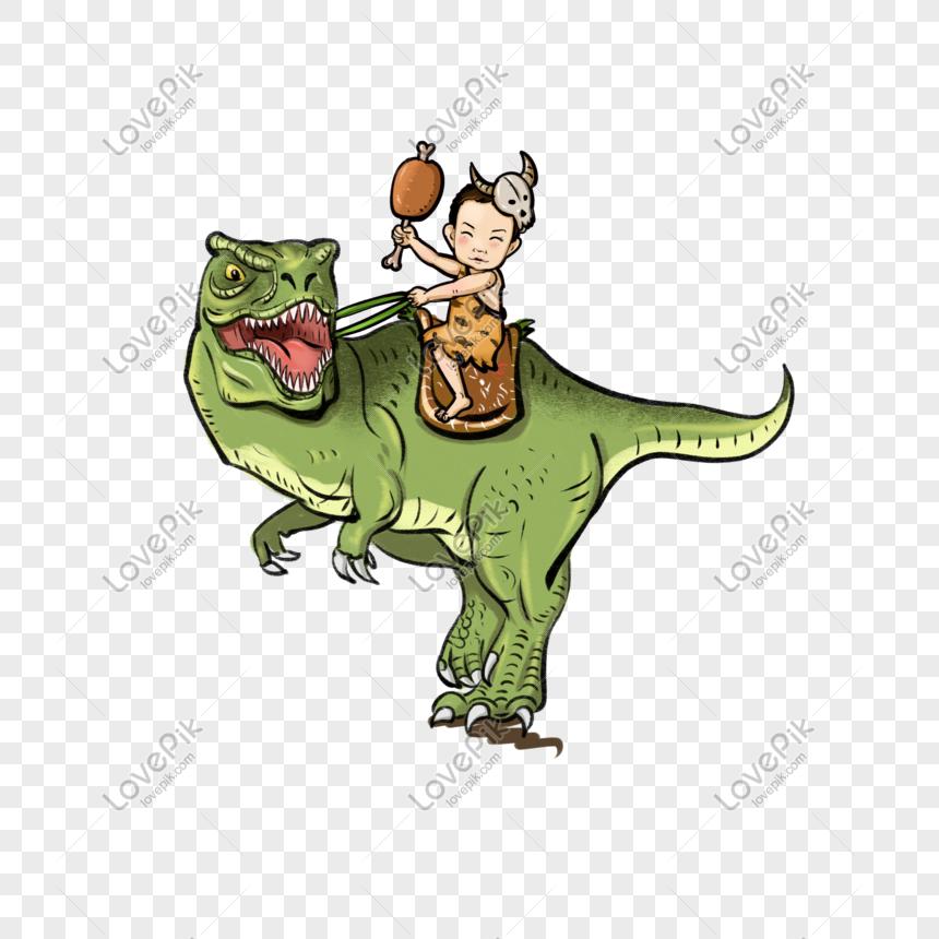 Dinosaurus Anak Hari Berkuda Lucu Anak Kecil Savage Kartun Gambar