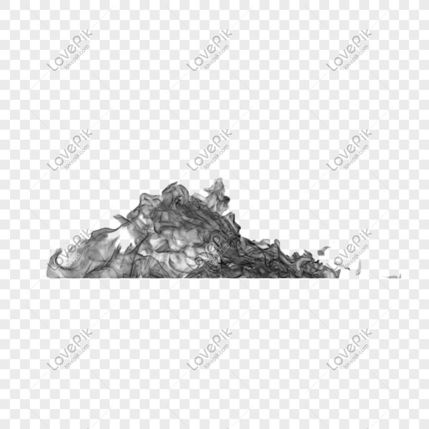 Dekorasi Efek Sketsa Puncak Gunung Abu Abu Gambar Unduh Gratis