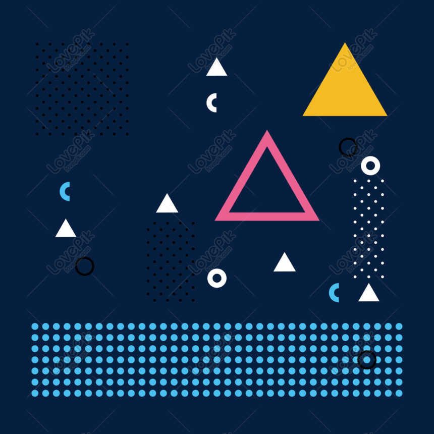 Small fresh creative memphis pattern png image_picture free