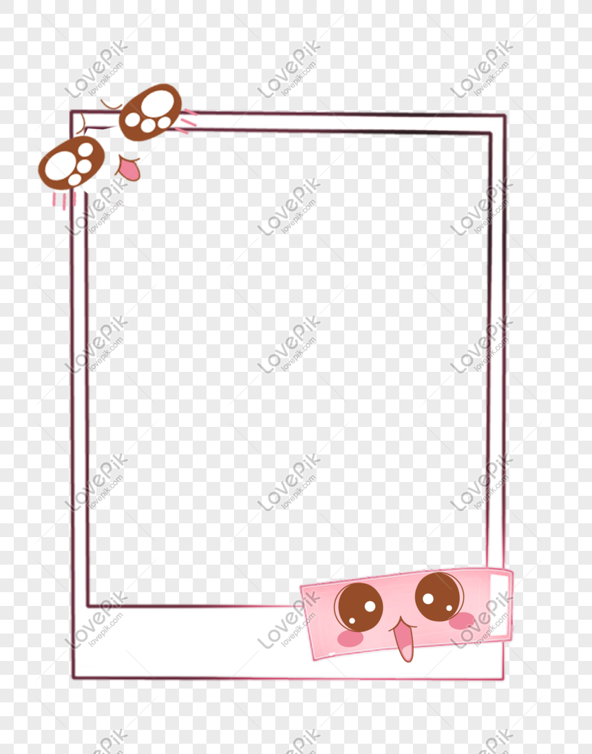 Cute Emoticon Photo Frame Free Png Image Picture