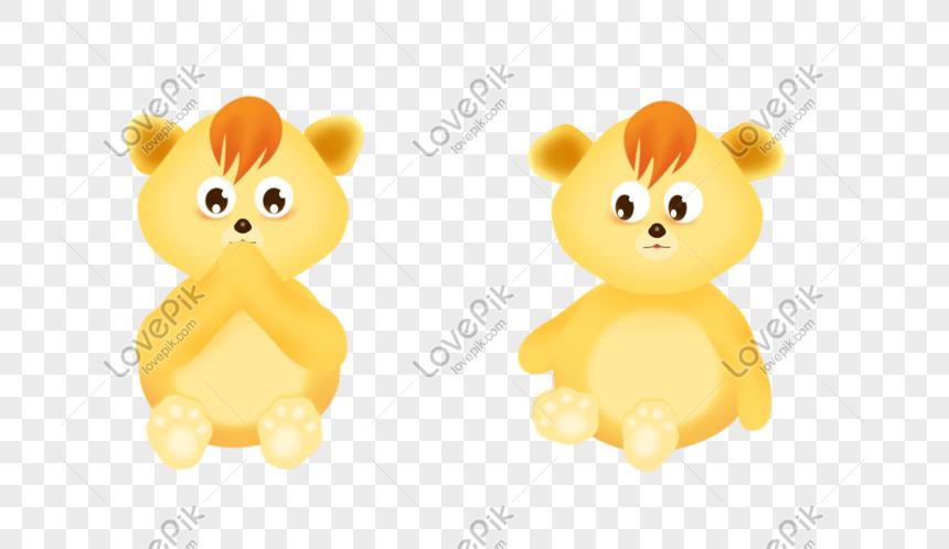 Beruang Kartun Kuning Comel Gambar Unduh Gratis Imej 610731690 Format Psd My Lovepik Com