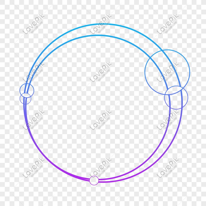 Blue-violet gradient color technology external glow