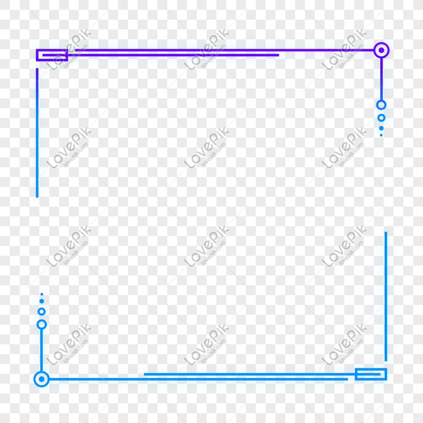 Blue purple technology sense external glow geometric square