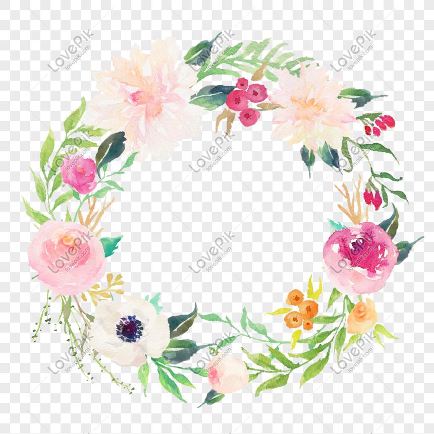 Bahan Desain Karangan Bunga Daun Bunga Air Png Grafik Gambar Unduh Gratis Lovepik