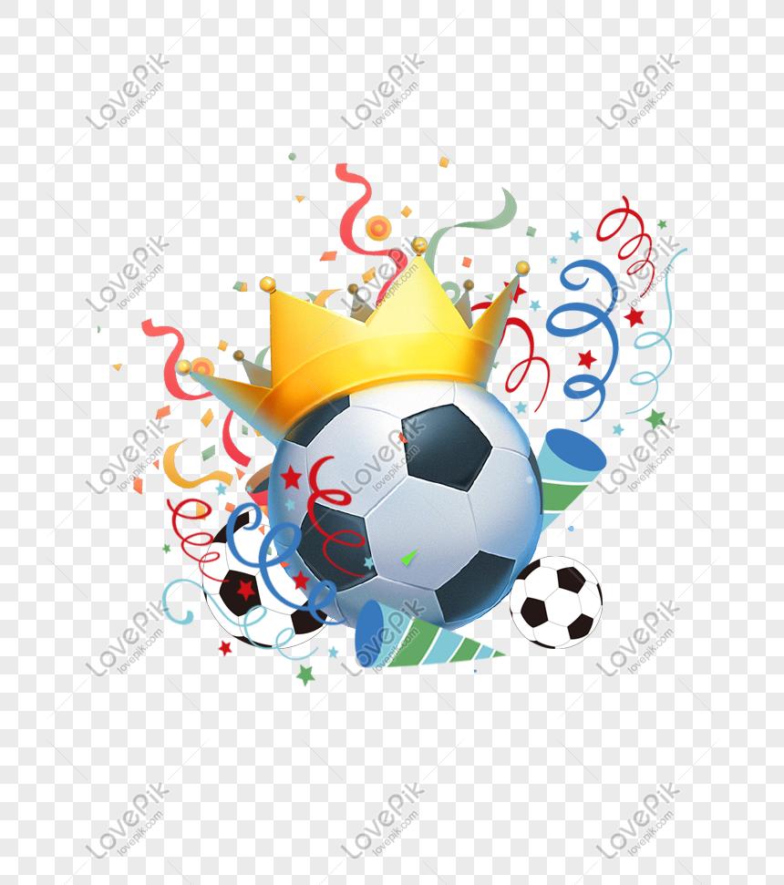 Ilustrasi Sepakbola Bola Sepak Piala Dunia Rusia Gambar