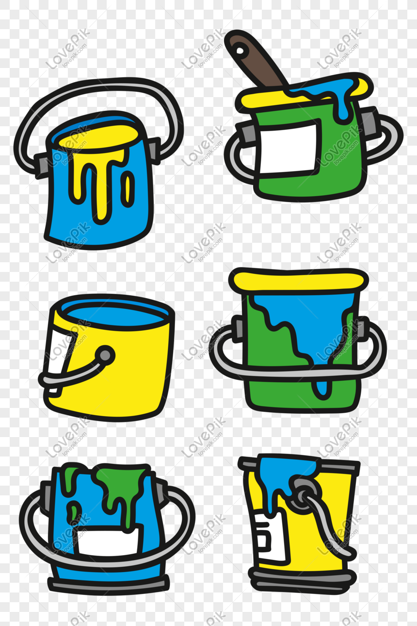 Cartoon Vector Childrens Drawing Paint Bucket Png Image Picture Free Download 610749411 Lovepik Com