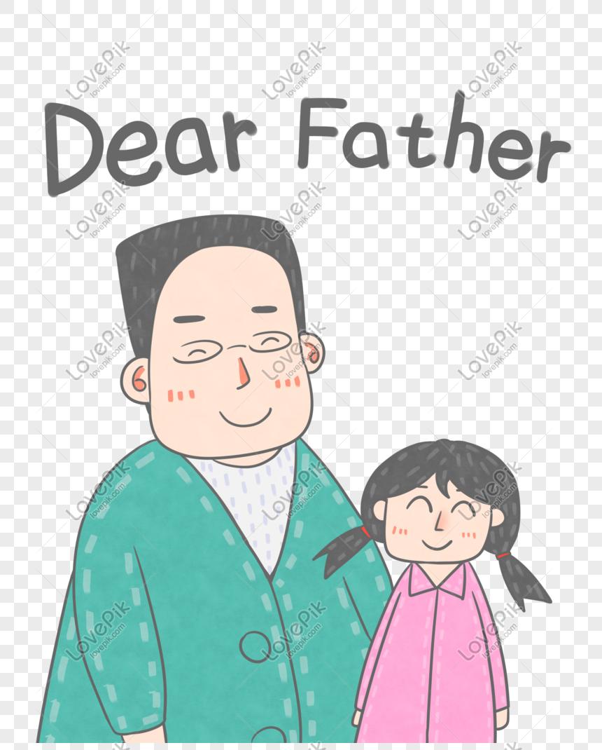 Hari Ayah Yang Bahagia Ayah Anak Perempuan Ilustrasi Tangan Y Gambar Unduh Gratis Imej 610755359 Format Psd My Lovepik Com