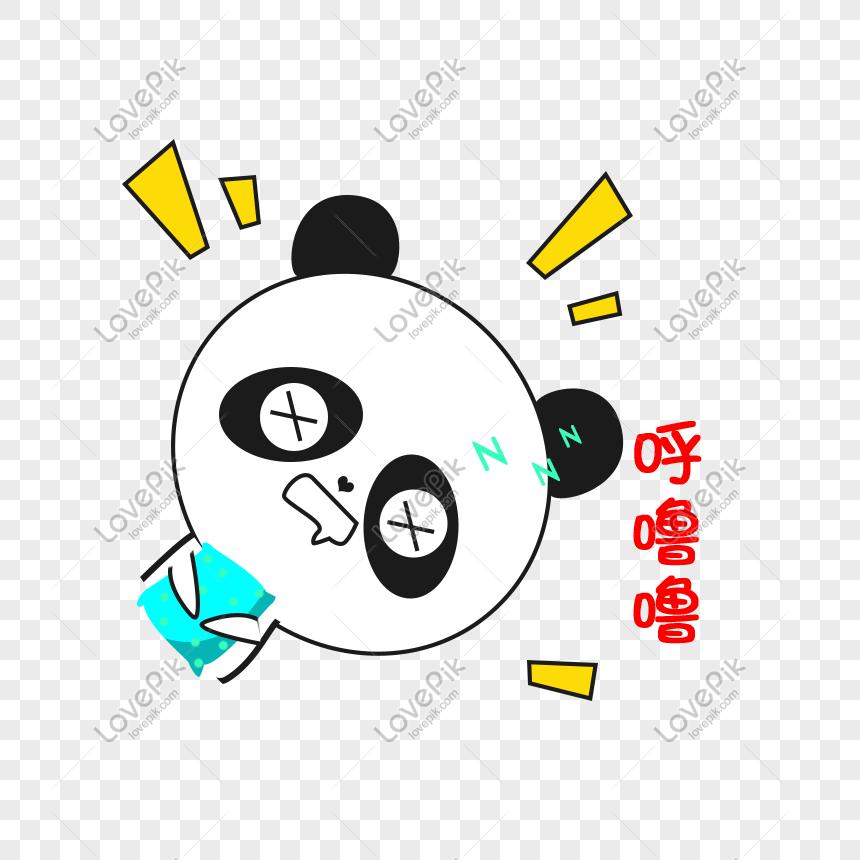 Kartun Panda Kecil Tidur Berdengkur Lucu Ekspresi Lucu Pek