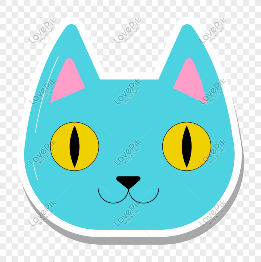 Unduh 100+  Gambar Kepala Kucing Kartun Lucu Terlihat Keren HD