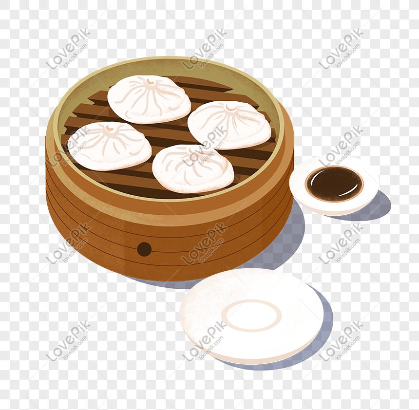 Kartun Paket Makanan Tradisional Yang Digambar Tangan Gambar Unduh