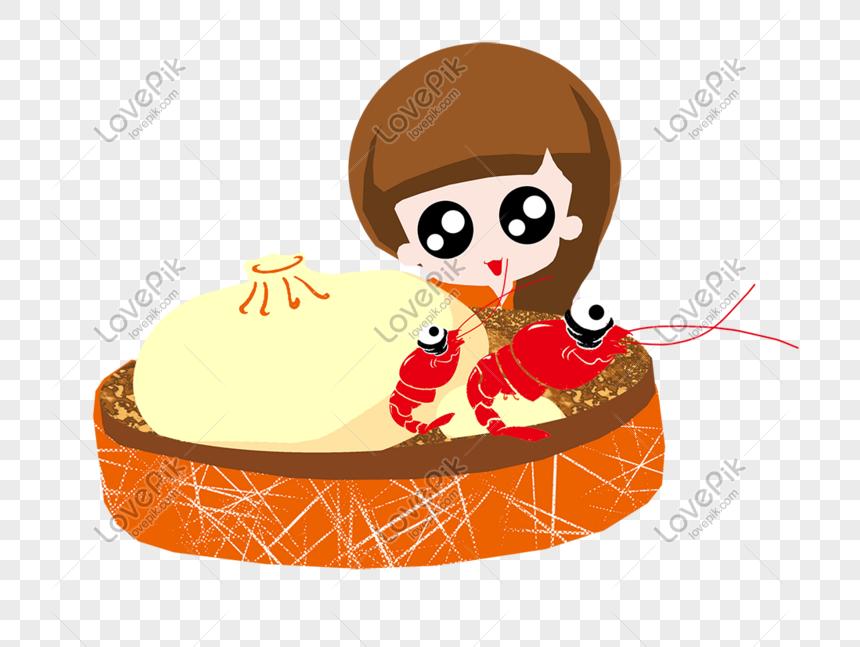 Ilustrasi Reka Bentuk Kartun Comel Untuk Pengiklanan Makanan Dan