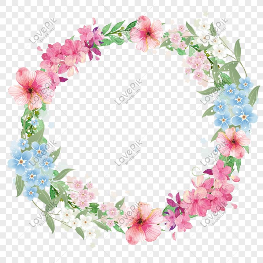 Beautiful Flower Border Element Png