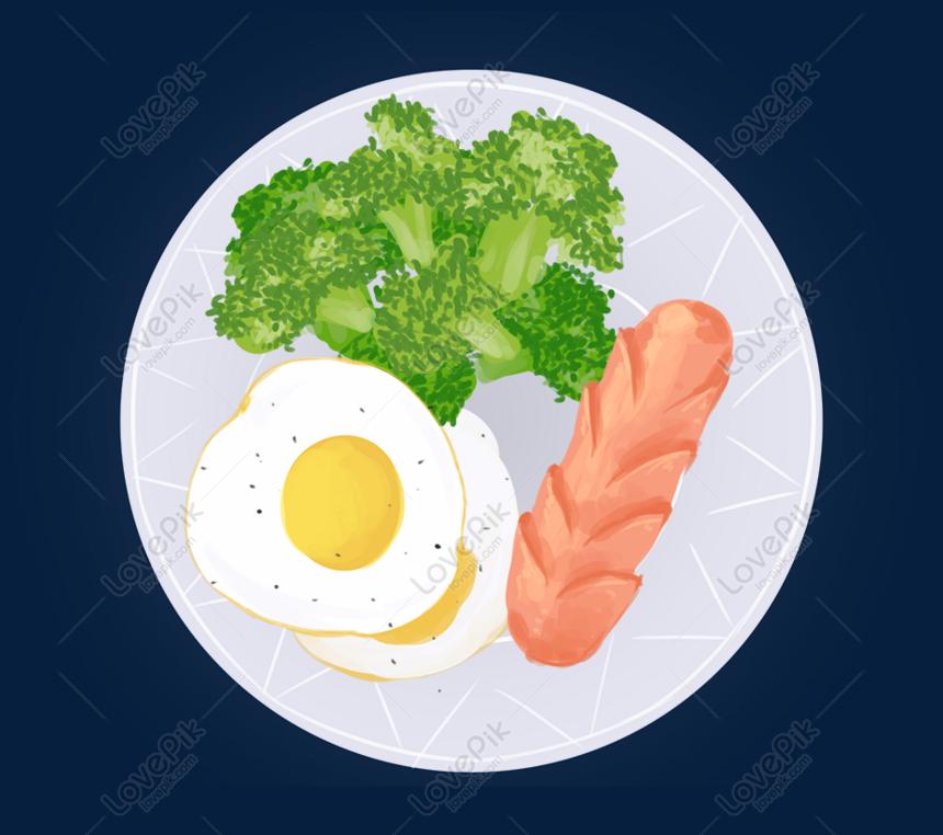 Catering Publicidad Sana Comer Tema Dibujos Animados Desayuno Di