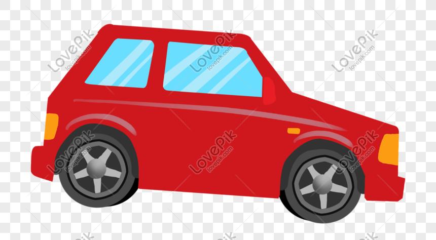 Camioneta Pickup Roja Dibujada A Mano De Dibujos Animados