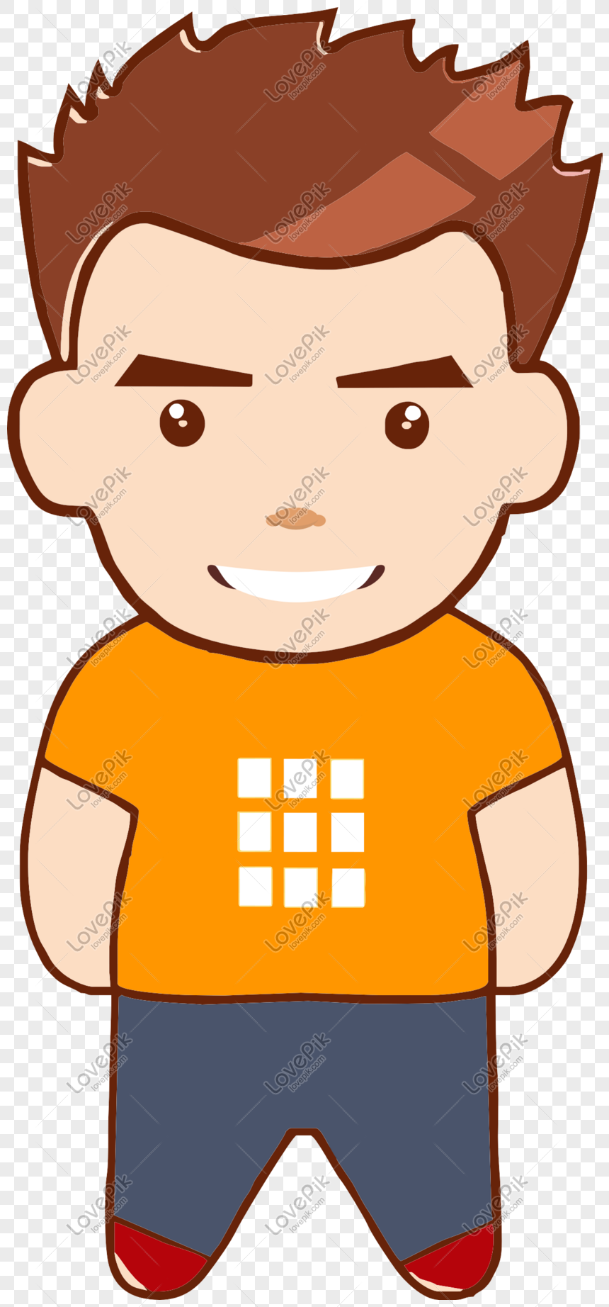 Cartoon Style Hand Drawn Cute Boy Cartoon Png Image Picture Free Download 610783303 Lovepik Com