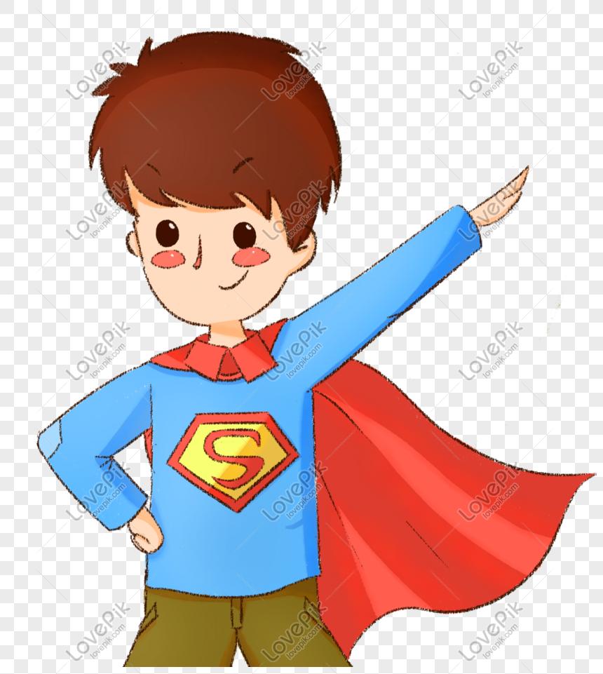 vẽ tay cậu bé siêu nhân đẹp trai