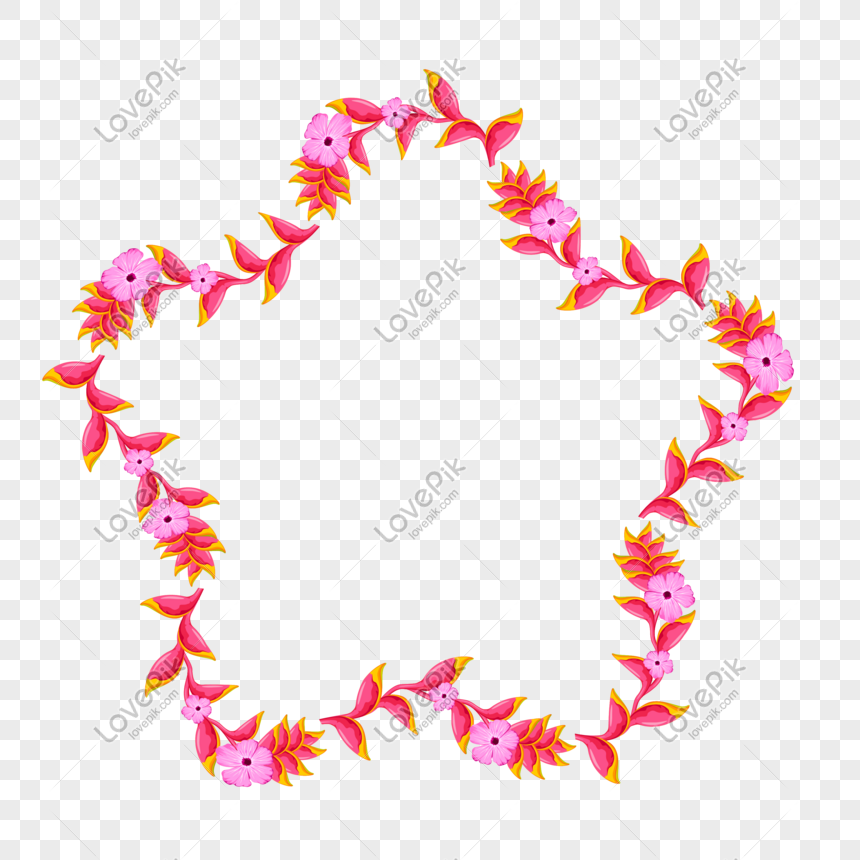Flowers Border Png Vector