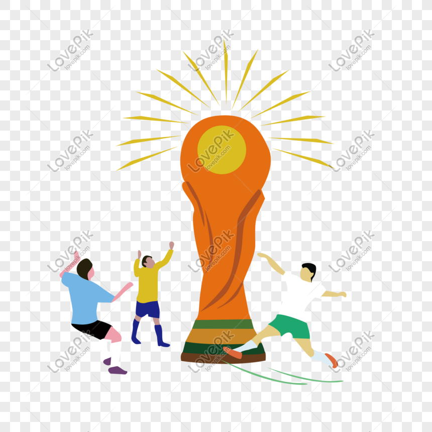 world cup trophy football player cartoon png image picture free download 610794375 lovepik com lovepik