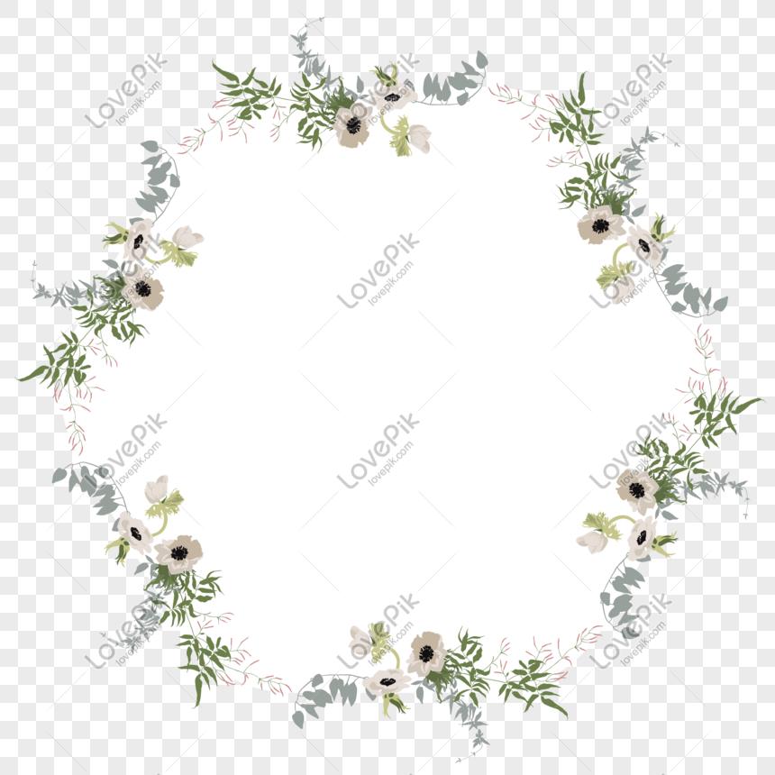 Vektor Kartun Datar Bunga Putih Tanaman Perbatasan Bunga Png Grafik Gambar Unduh Gratis Lovepik