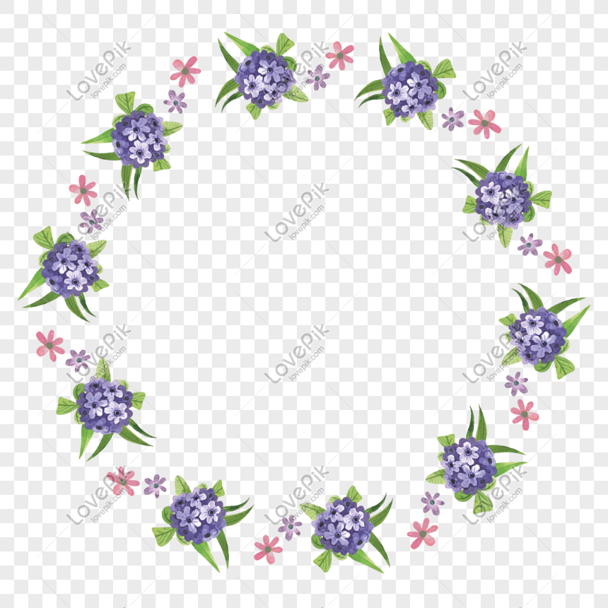 vector cartoon flat purple floral ornament round border png image picture free download 610794620 lovepik com vector cartoon flat purple floral