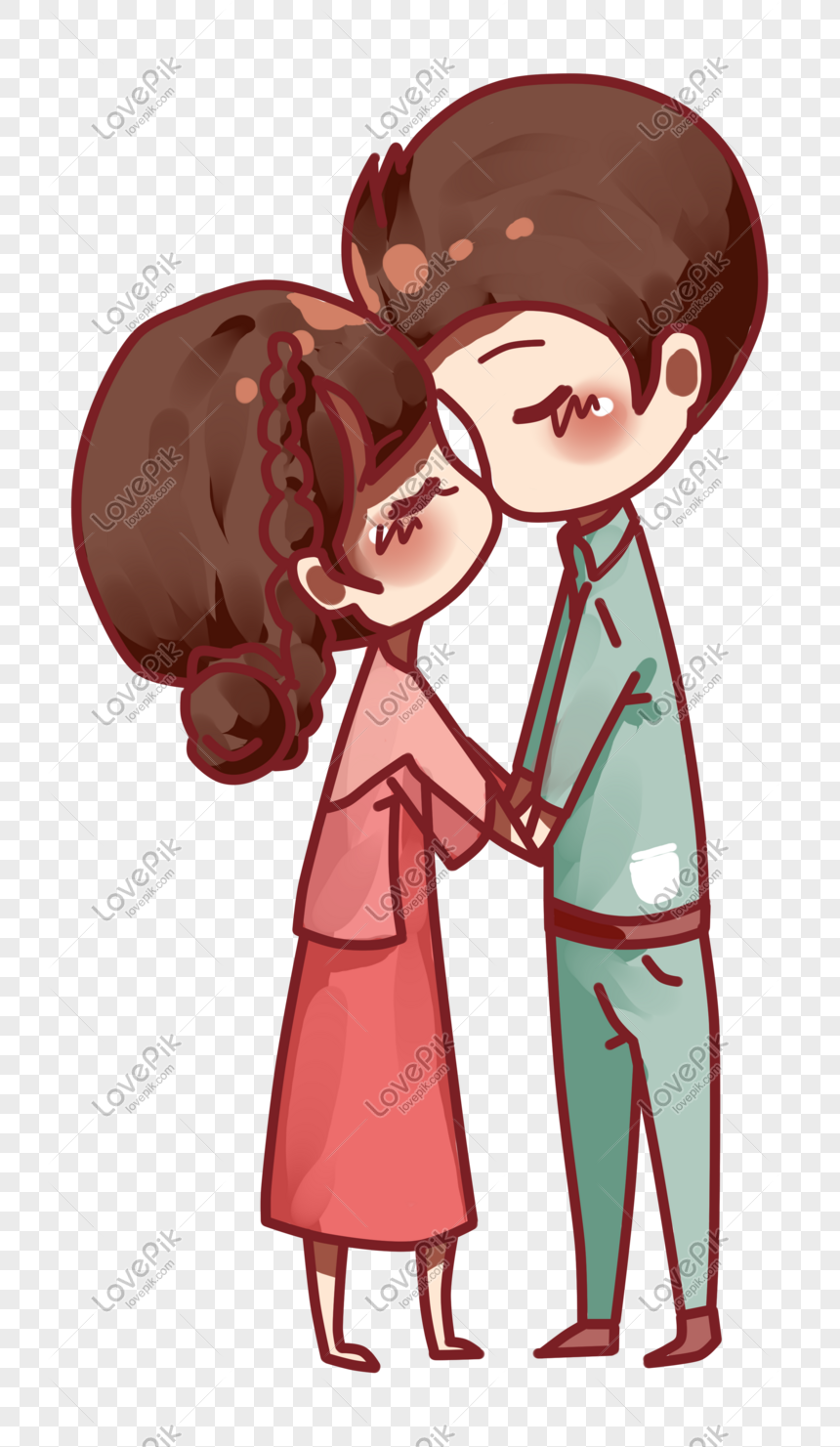 Pasangan Hari Valentine Perak Hari Valentine Memegang Ciuman